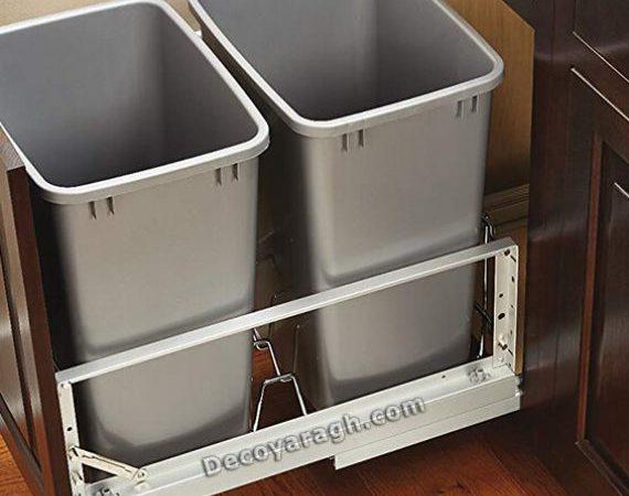 مناسبترین سطل زباله ریلی داخل کابینتی